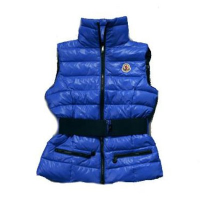 Moncler Gaelle Down Blue Vest Women