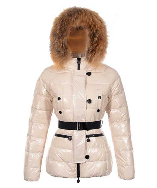 Moncler Gene Design Down Jackets Women Decorative Belt Beige