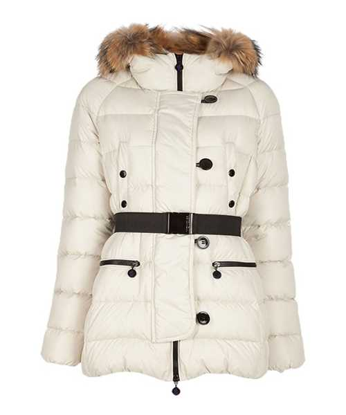 Moncler Gene Design Down Jackets Women Decorative Belt White