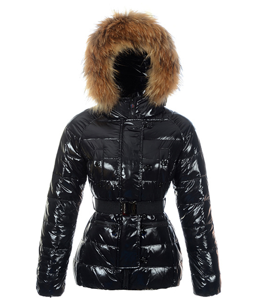 Moncler Gene Design Down Jackets Womens Decorative Belt Black