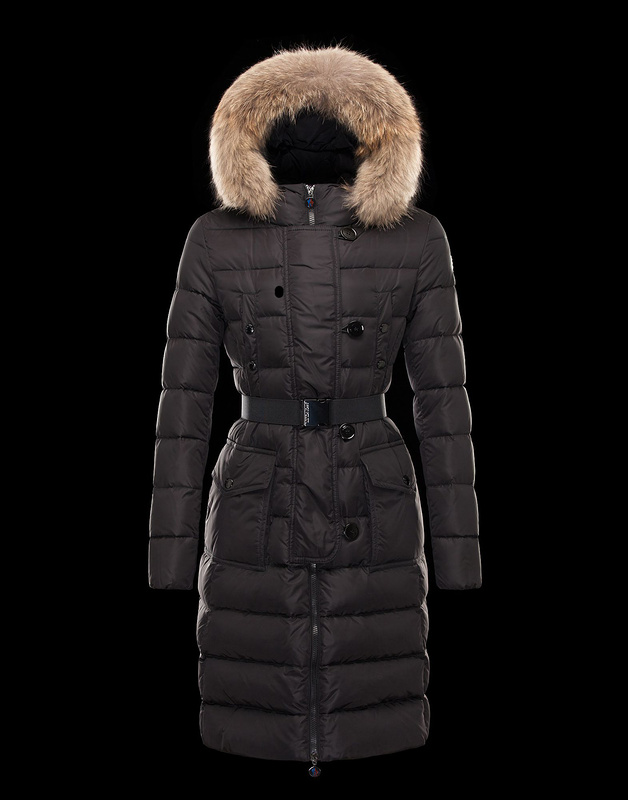Moncler Women's Long Coats Brown