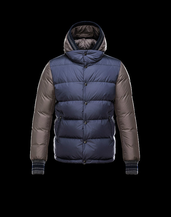 Moncler Ghislain Men Down Jackets Blue Coffee Sale