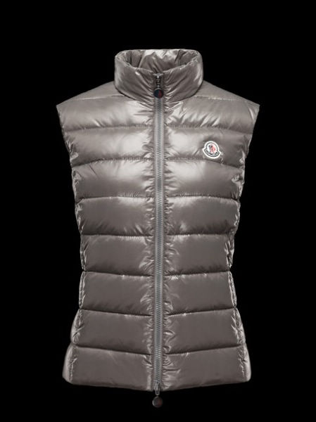 Moncler Womens Sleeveless Gilet Down Jacket Ghany Gray