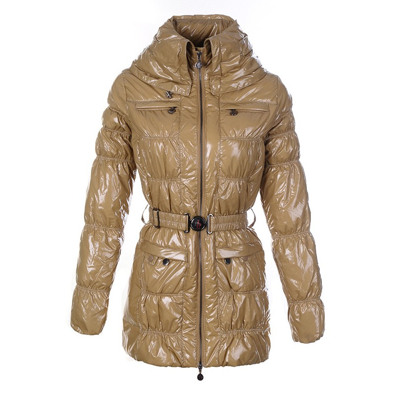 Moncler Goose Down Cream Coat Women