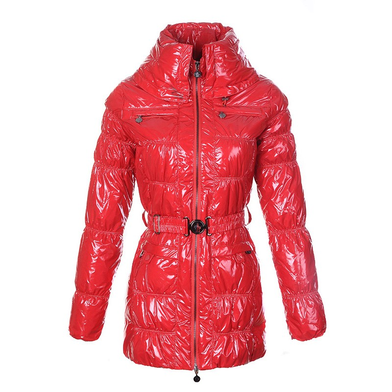 Moncler Goose Down Red Coat Women