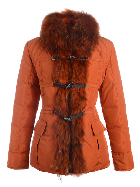 Moncler Coat Jacket Women Coat Winter Orange