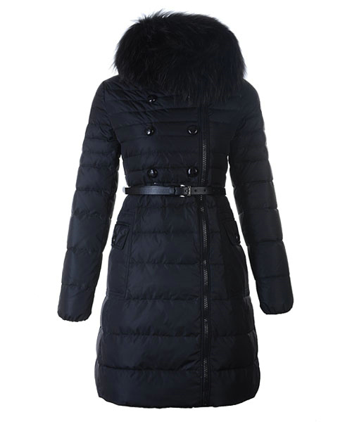 Moncler Herisson Fashion Coat Womens Long Black