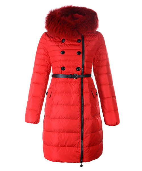 Moncler Herisson Fashion Coat Womens Long Red