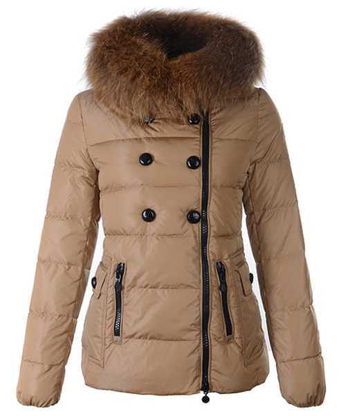 Moncler Herisson Fashion Women Jackets Short Khaki