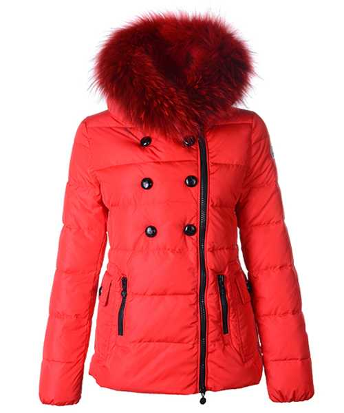 Moncler Herisson Fashion Women Jackets Short Red