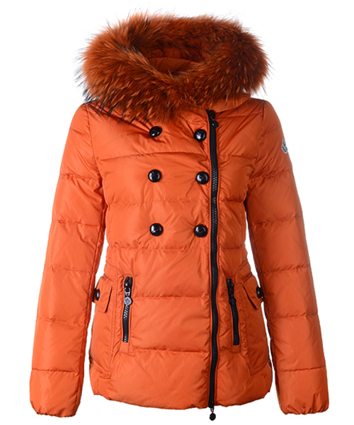 Moncler Herisson Fashion Womens Jacket Short Orange