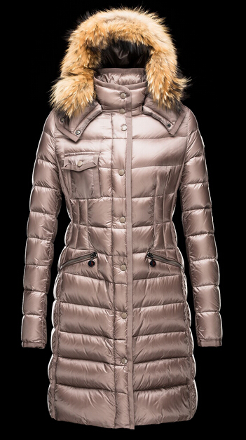 Moncler Men's Fur Hood Winter Coat Beige