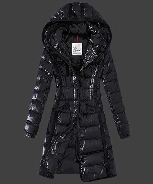 Moncler Hermine Down Coats Women Windproof Black