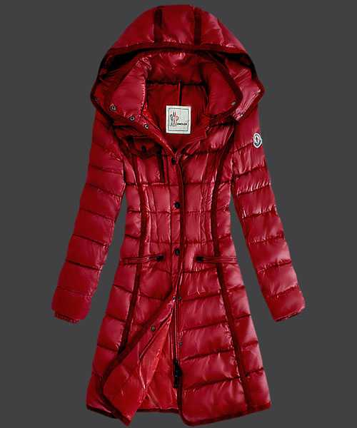 Moncler Hermine Down Coats Women Windproof Red
