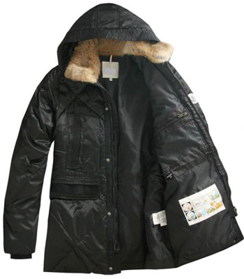Moncler Men's coat hat fur collar black
