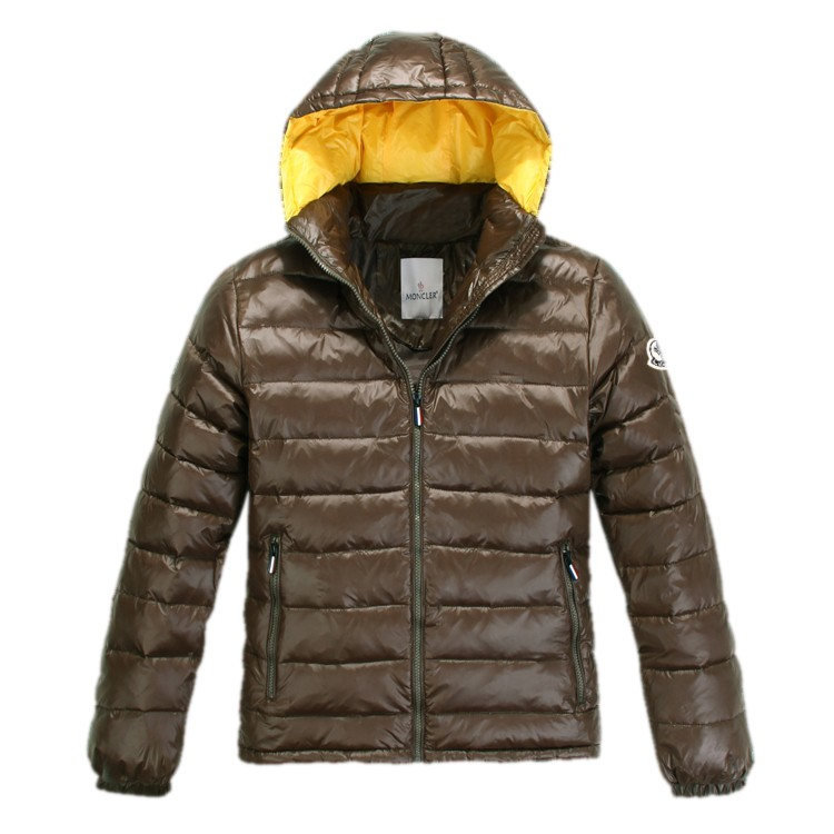 Moncler Hooded Army Green Jacket Men