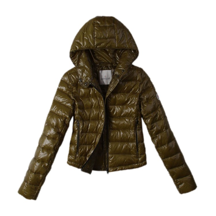 Moncler Hooded Army Green Jacket Women