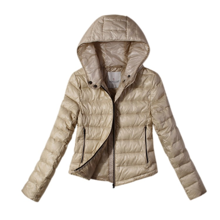 Moncler Hooded Beige Jacket Women