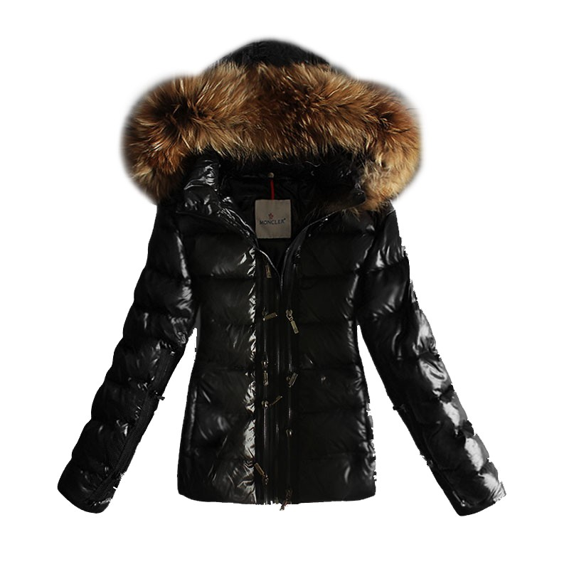 Moncler Hooded Black Coat Women
