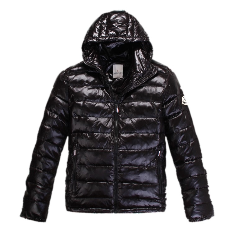 Moncler Hooded Black Jacket Men