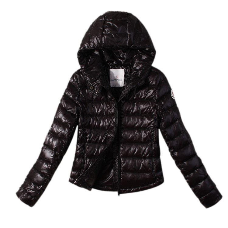 Moncler Hooded Black Jacket Women