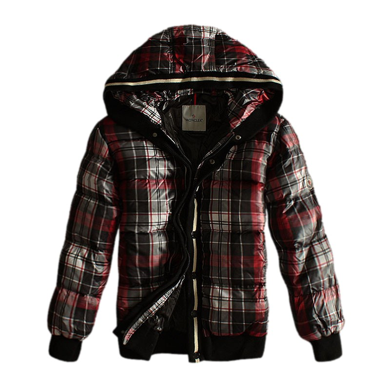 Moncler Hooded Black & Red Jacket Men