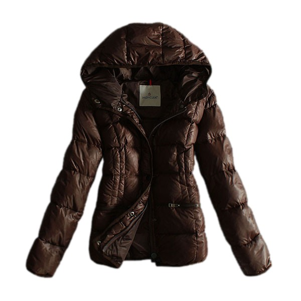 Moncler Hooded Coffee Coat Women