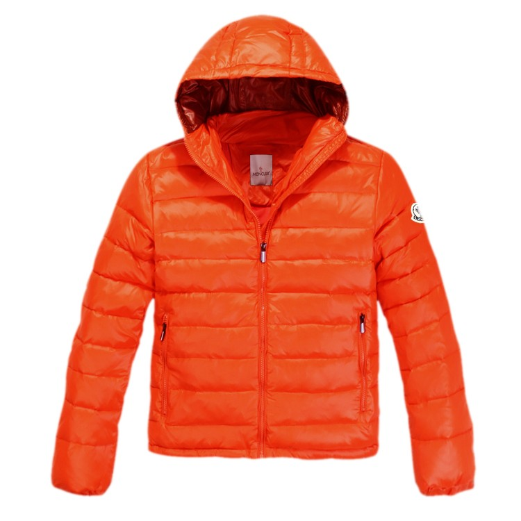 Moncler Hooded Orange Jacket Men