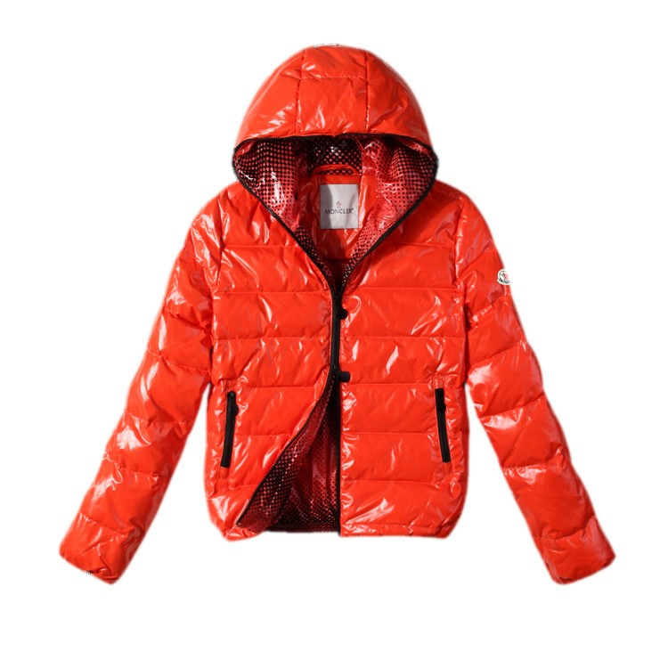 Moncler Hooded Orange Jacket Women