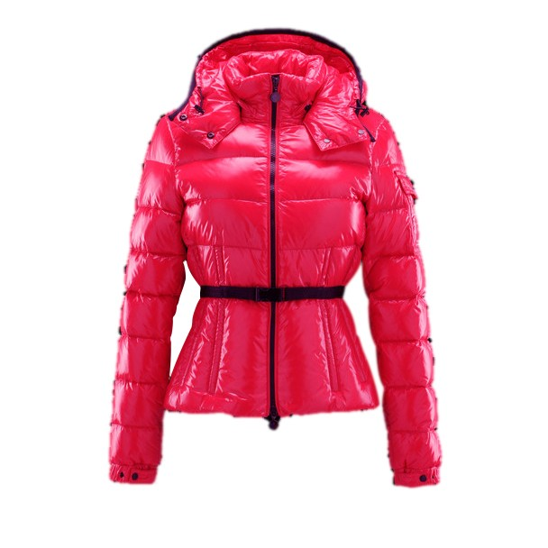 Moncler Hooded Pink Coat Women