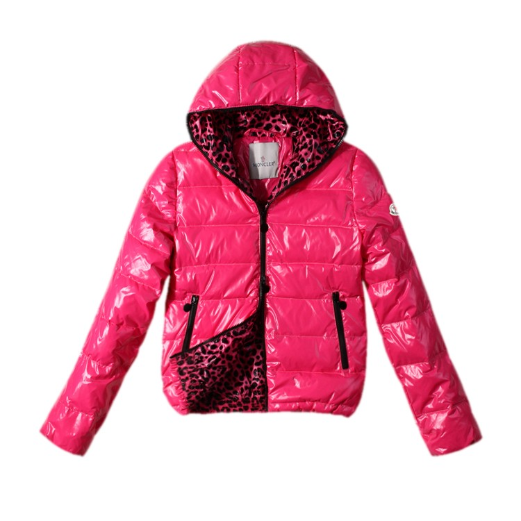 Moncler Hooded Pink Jacket Women
