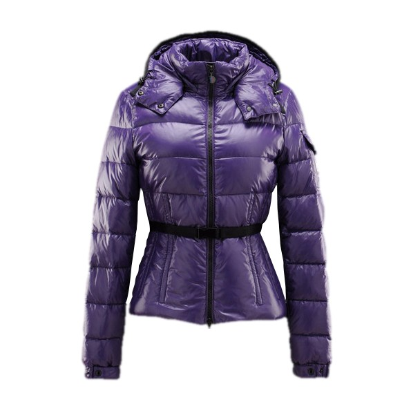Moncler Hooded Purple Coat Women