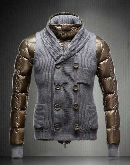 Moncler Jacket Men Double-breasted Coffee