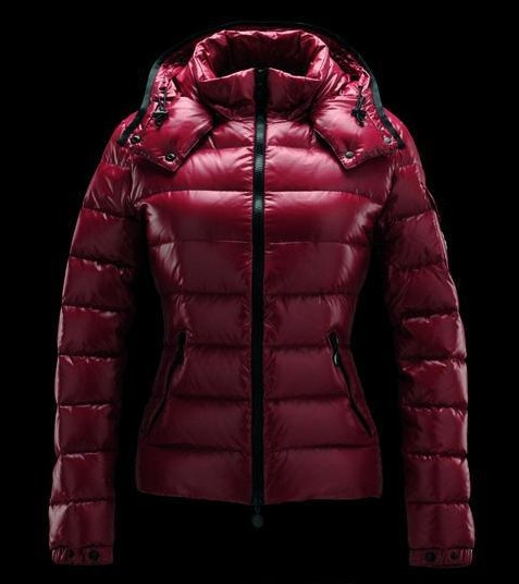Moncler Jackets For Women Red With Mock Collar