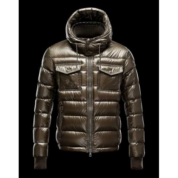 Moncler Jackets Mens FedGold Dark Green