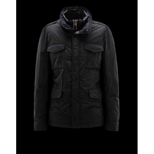 Moncler Jackets Mens HectGold Black