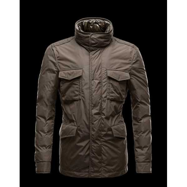 Moncler Jackets Mens HectGold Green Black