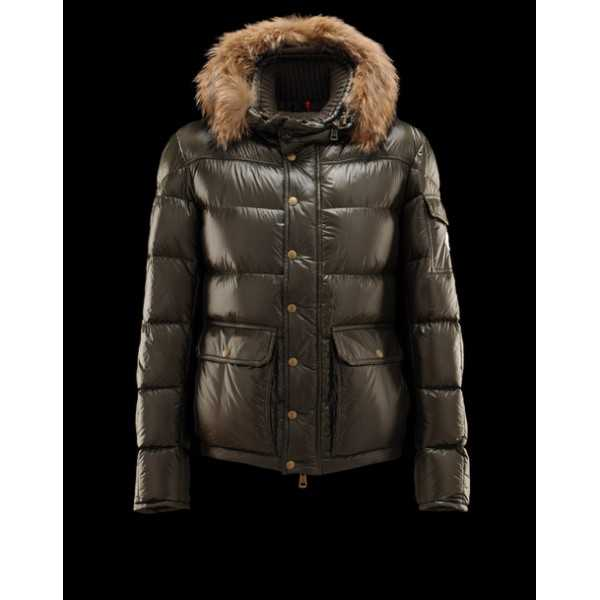 Moncler Jackets Mens Hubert Green Black