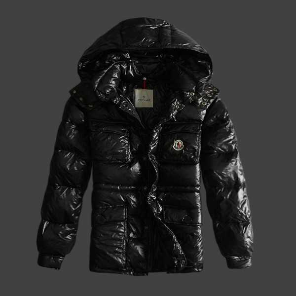 Moncler Jackets Mens Short Mark Black