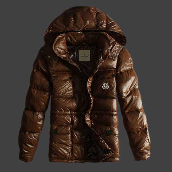 Moncler Jackets Mens Short Mark Coffee