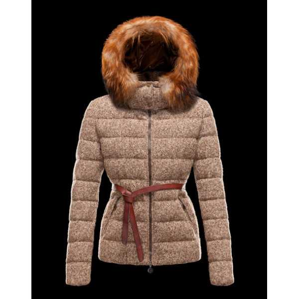 Moncler Jackets Women Chardonneret Brown
