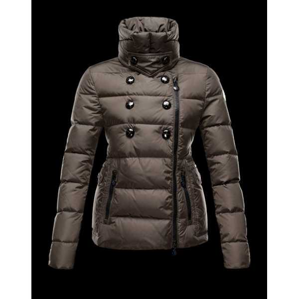 Moncler Jackets Women Daim Green Black
