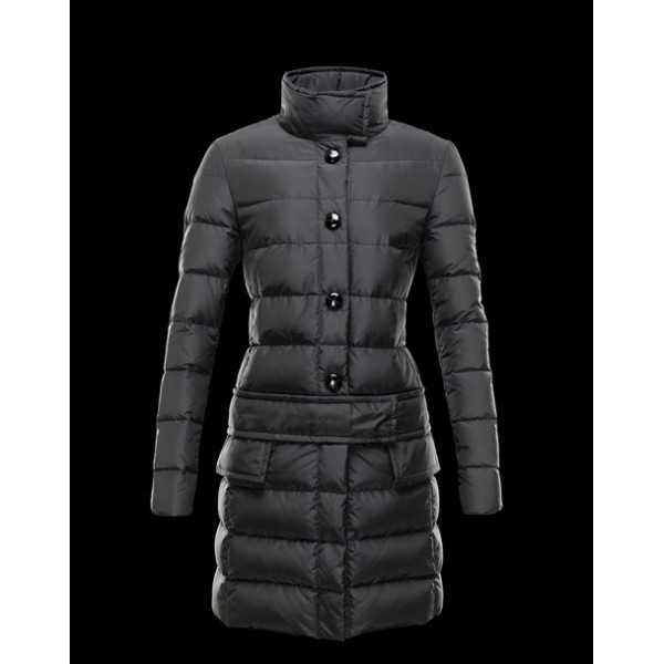 Moncler Jackets Women Long Herisson Grey Light