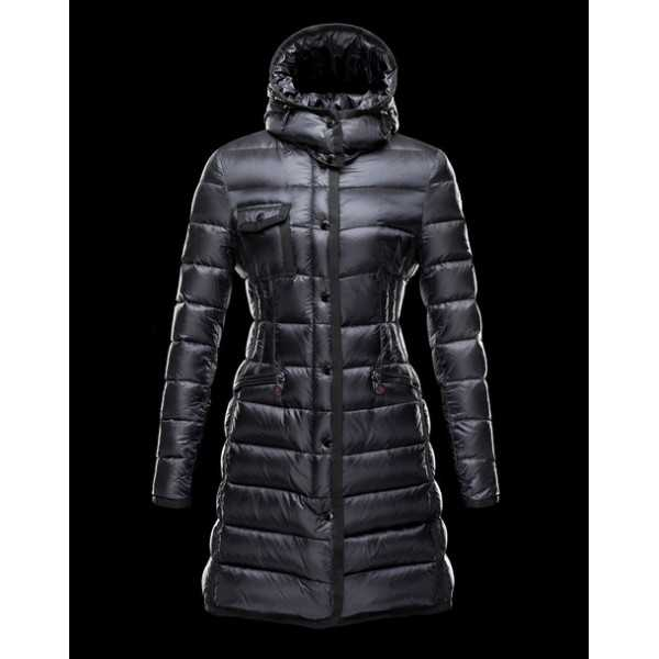 Moncler Jackets Women Long Hermine Black