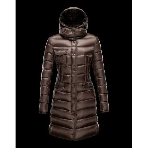 Moncler Jackets Women Long Hermine Green Black