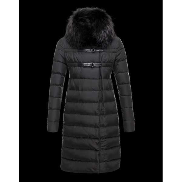 Moncler Jackets Women Long Lemming Black