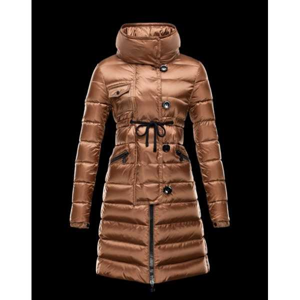 Moncler Jackets Women Long Libellule Khaki