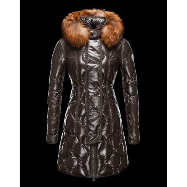 Moncler Jackets Women Long Lontre Green Black