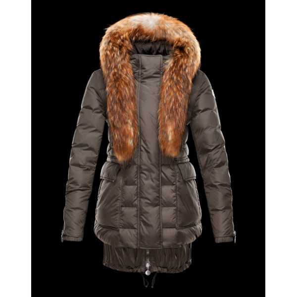 Moncler Jackets Women Long Lynx Green Black