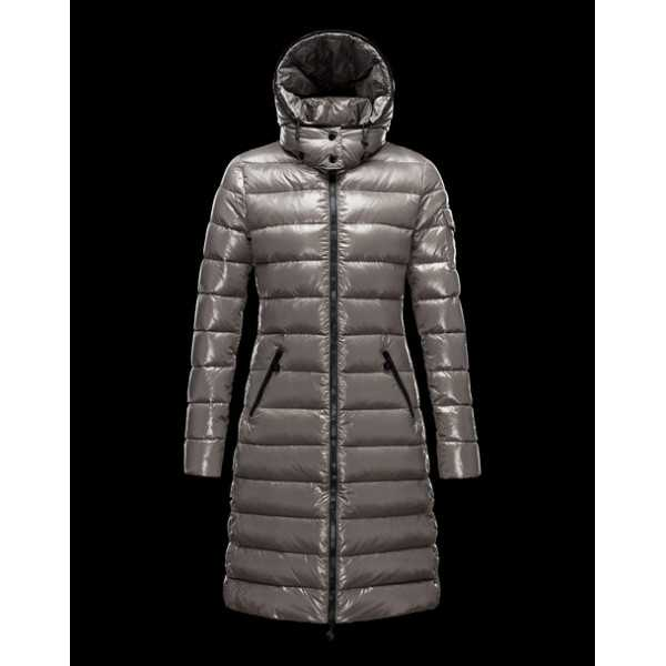 Moncler Jackets Women Long Moka Grey